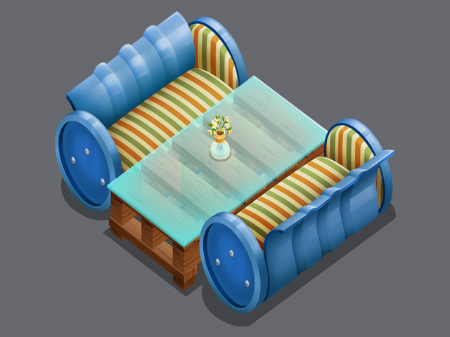 Isometric Couch